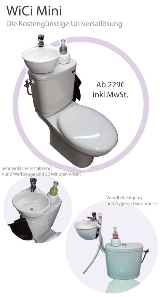 wici mini ein kleines handwaschbecken zum kleinen preis. Black Bedroom Furniture Sets. Home Design Ideas